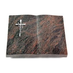 Livre/Englisch-Teak Kreuz/Ähren (Alu)