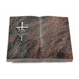 Livre/Englisch-Teak Kreuz/Rose (Alu)