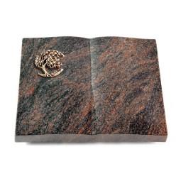 Livre/Englisch-Teak Baum 1 (Bronze)