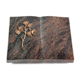 Livre/Englisch-Teak Gingozweig 1 (Bronze)