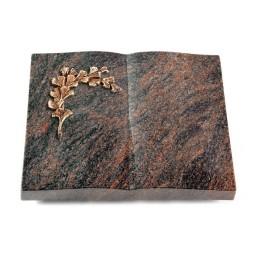 Livre/Englisch-Teak Gingozweig 2 (Bronze)
