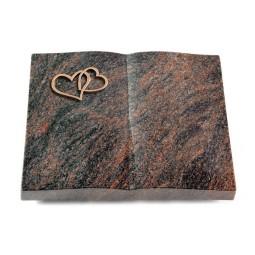 Livre/Englisch-Teak Herzen (Bronze)