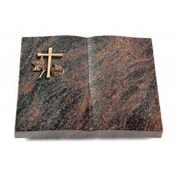 Livre/Englisch-Teak Kreuz 1 (Bronze)