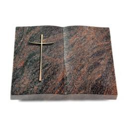 Livre/Englisch-Teak Kreuz 2 (Bronze)