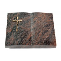 Livre/Englisch-Teak Kreuz/Ähren (Bronze)