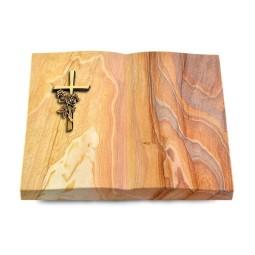 Livre/Paradiso Kreuz/Rose (Bronze)