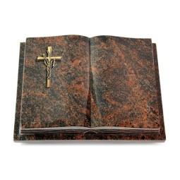 Livre Podest Folia/Woodland Kreuz/Ähren (Bronze)