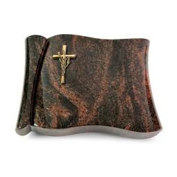 Voltaire/Raw Silk Kreuz/Ähren (Bronze)