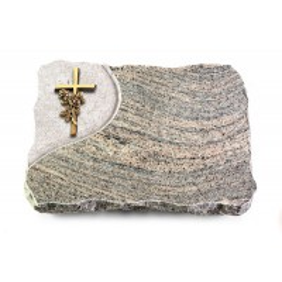 Indisch Black Folio Kreuz/Rose (Bronze)