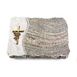 Indisch Black Wave Kreuz/Rose (Bronze)