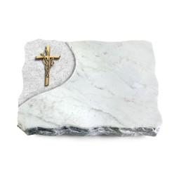 Marina Blue/Folio Kreuz/Ähren (Bronze)
