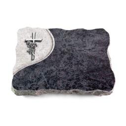 Omega Marmor/Folio Kreuz/Rose (Alu)