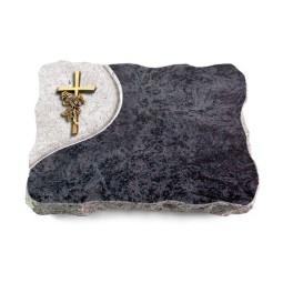 Omega Marmor/Folio Kreuz/Rose (Bronze)