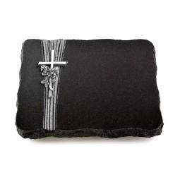 Indisch Black Strikt Kreuz/Ähren (Alu)
