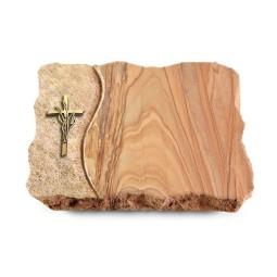 Paradiso/Wave Kreuz/Ähren (Bronze)