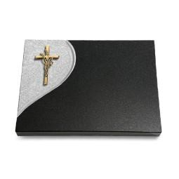 Grabtafel Aruba Folio Kreuz/Ähren (Bronze)