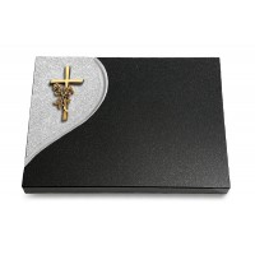 Grabtafel Aruba Folio Kreuz/Rose (Bronze)