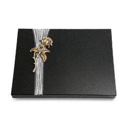 Grabtafel Aruba Strikt Rose 2 (Bronze)