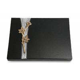 Grabtafel Aruba Strikt Rose 9 (Bronze)