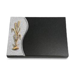 Grabtafel Aruba Wave Ähren 2 (Bronze)