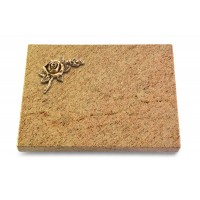 Grabtafel Indisch Black Pure Rose 1 (Bronze)