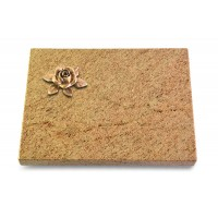 Grabtafel Indisch Black Pure Rose 4 (Bronze)
