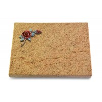 Grabtafel Indisch Black Pure Rose 1 (Color)