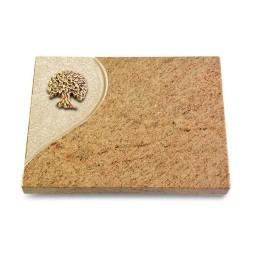 Grabtafel Indisch Black Folio Baum 3 (Bronze)