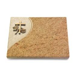 Grabtafel Indisch Black Folio Kreuz 1 (Bronze)