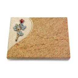 Grabtafel Indisch Black Folio Rose 7 (Color)