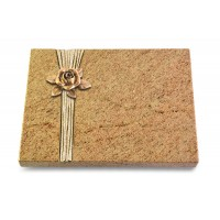 Grabtafel Indisch Black Strikt Rose 4 (Bronze)