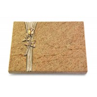 Grabtafel Indisch Black Strikt Rose 8 (Bronze)