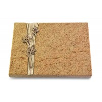 Grabtafel Indisch Black Strikt Rose 9 (Bronze)