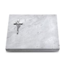 Grabtafel Kashmir Pure Kreuz/Ähren (Alu)