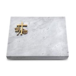 Grabtafel Kashmir Pure Kreuz 1 (Bronze)
