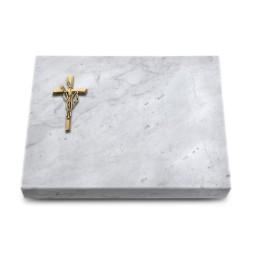 Grabtafel Kashmir Pure Kreuz/Ähren (Bronze)