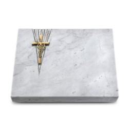 Grabtafel Kashmir Delta Kreuz/Ähren (Bronze)