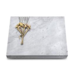 Grabtafel Kashmir Delta Lilie (Bronze)