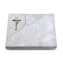 Grabtafel Kashmir Folio Kreuz/Ähren (Alu)