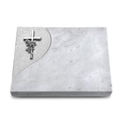 Grabtafel Kashmir Folio Kreuz/Rose (Alu)