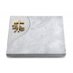 Grabtafel Kashmir Folio Kreuz 1 (Bronze)