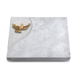 Grabtafel Kashmir Folio Taube (Bronze)