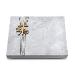 Grabtafel Kashmir Strikt Kreuz 1 (Bronze)
