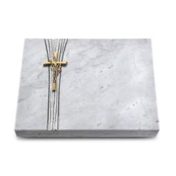 Grabtafel Kashmir Strikt Kreuz/Ähren (Bronze)