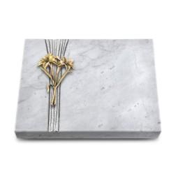 Grabtafel Kashmir Strikt Lilie (Bronze)