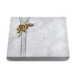 Grabtafel Kashmir Strikt Rose 1 (Bronze)