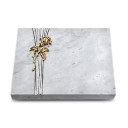 Grabtafel Kashmir Strikt Rose 2 (Bronze)