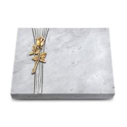 Grabtafel Kashmir Strikt Rose 8 (Bronze)