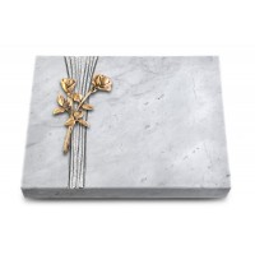 Grabtafel Kashmir Strikt Rose 10 (Bronze)
