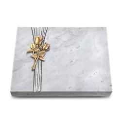 Grabtafel Kashmir Strikt Rose 11 (Bronze)